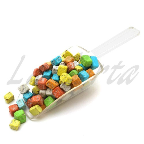 Декор шоколадный Камешки (яркие) 100грамм