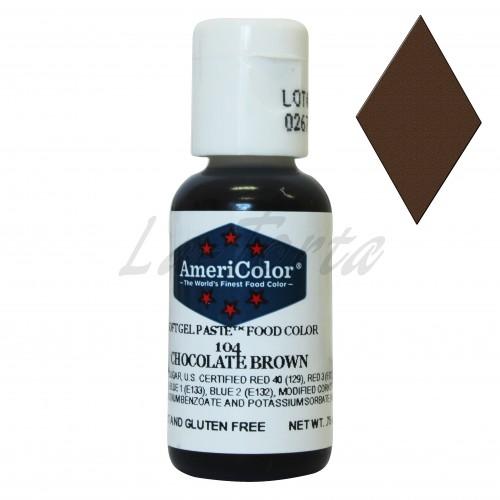 Гелевая краска Америколор Шоколадно коричневая