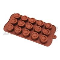 Силиконовая форма для шоколада и карамели Круги Винтаж