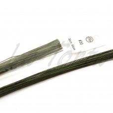 Проволока темно-зеленая покрытая бумагой № 30