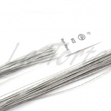 Проволока белая покрытая бумагой № 22