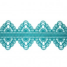 Кружева из гибкого айсинга бирюзовые (150)