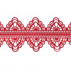 Кружева из гибкого айсинга красные (150)