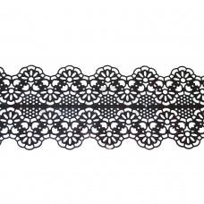 Кружева из гибкого айсинга черные (181)