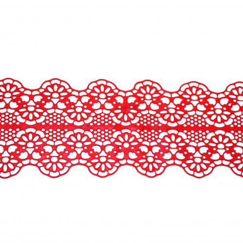 Кружева из гибкого айсинга красные (181)