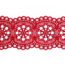 Кружева из гибкого айсинга красные (180)