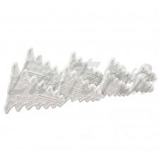 Набор резаков-штампов для мастики Новогодняя елка (8 шт)