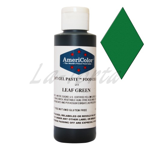 Гелевая краска Америколор Зеленый лист 128 грамм