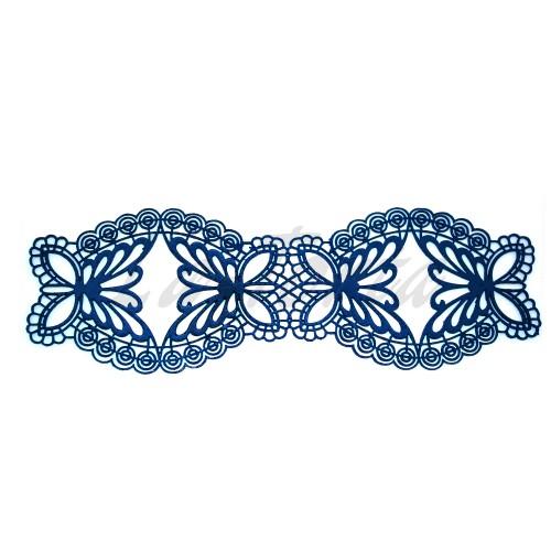 Кружева из гибкого айсинга синие (215)