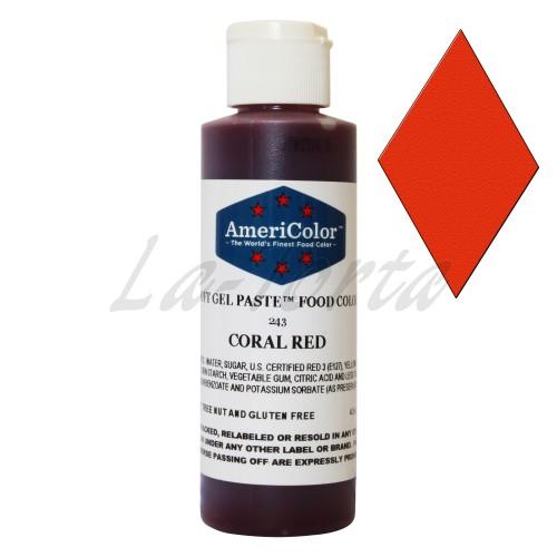 Гелевая краска Америколор Коралловый красный 128 грамм до 10/2018 УЦЕНКА