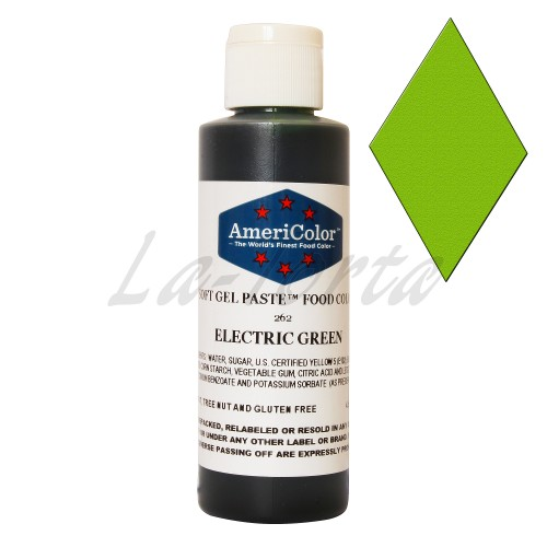 Гелевая краска Америколор Зеленый электрик. 128 грамм