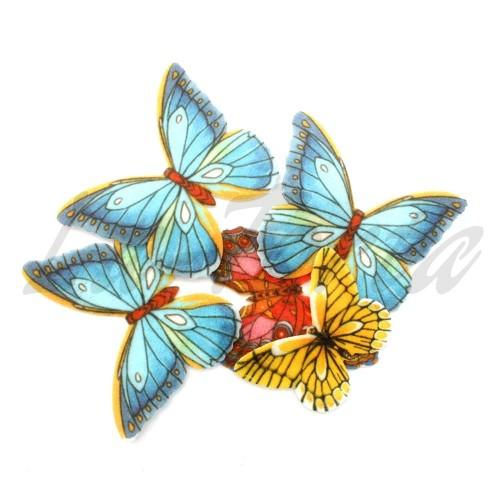 Вафельные бабочки Микс (вырезанные)