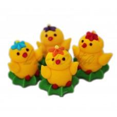 Набор сахарных фигурок Цыплята маленькие 4шт
