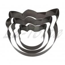 Набор универсальных металлических форм Китти 3шт
