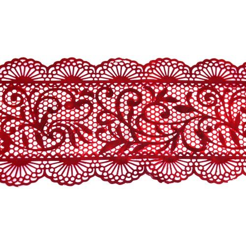 Кружева из гибкого айсинга красные (355)