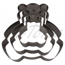Набор универсальных металлических форм Мишка 3шт