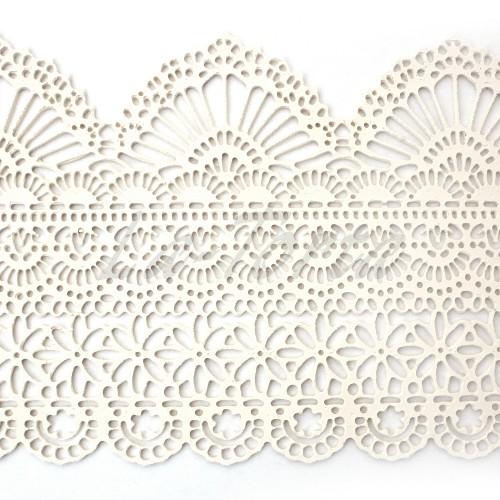 Кружева из гибкого айсинга белые (425)