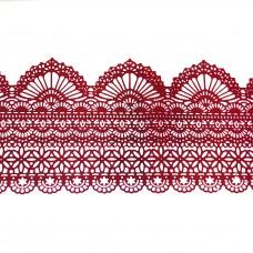 Кружева из гибкого айсинга красное (425)