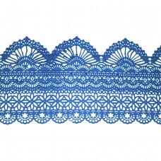 Кружева из гибкого айсинга синие (425)