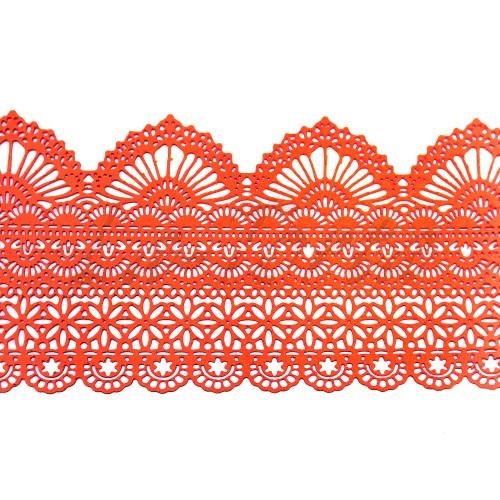 Кружева из гибкого айсинга персиковые (425)