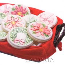 Текстурные маты для декорирования маффинов Рождество