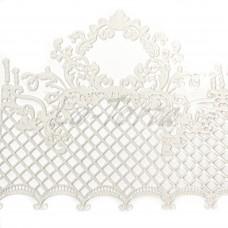 Кружева из гибкого айсинга белые (495)