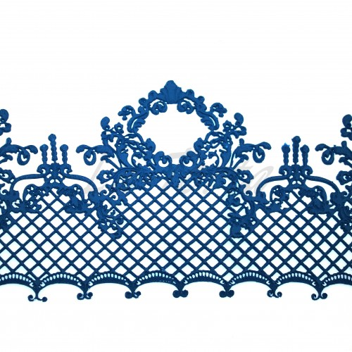 Кружева из гибкого айсинга темно-синие (495)