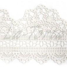 Кружева из гибкого айсинга белые (497)