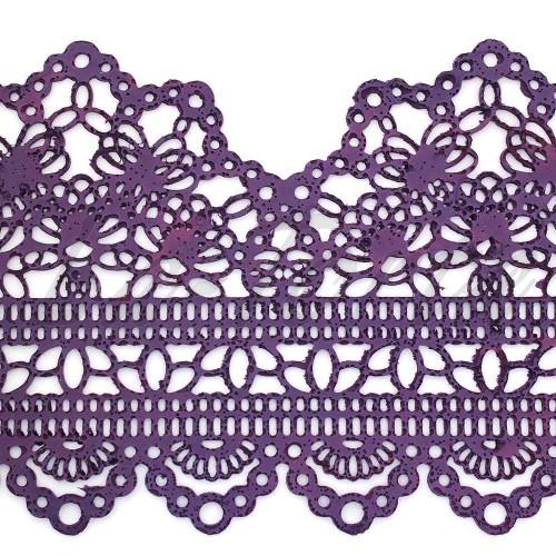 Кружева из гибкого айсинга фиолетовые(497)