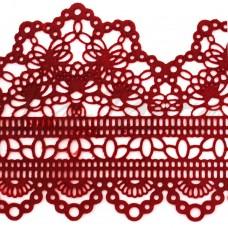 Кружева из гибкого айсинга красные(497)