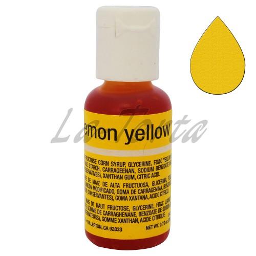 Гелевый краситель Chefmaster Liqua-Gel Lemon Yellow