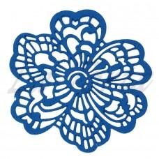 Кружева из гибкого айсинга синие (661)