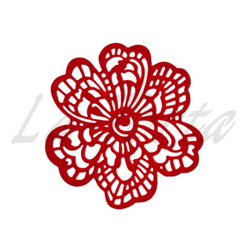 Кружева из гибкого айсинга красные (661)