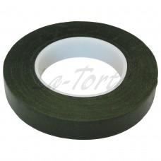 Темно-зеленая флористическая лента