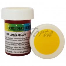 Гель-краска Base Color Chefmaster Lemon Yellow 28грамм