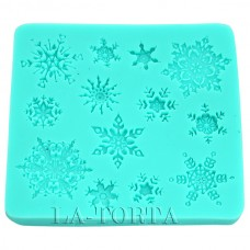 Молд Decorative силиконовый Снежинки