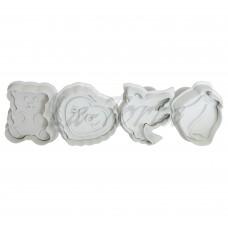 Плунжеры для мастики Валентинки (4 шт)