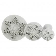 Набор плунжеров для мастики Снежинка (3 шт)
