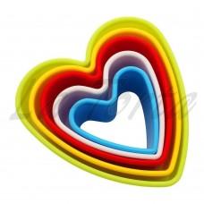 Набор выемок Сердца (5шт)