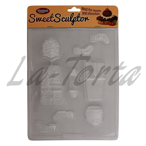 Молд для шоколада и мастики Ниндзяго 3D (малые)