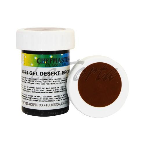 Гель-краска Base Color Chefmaster Desert Brown 28грамм