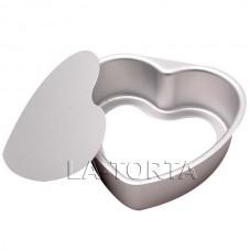 Алюминиевая форма со съемным дном Сердце