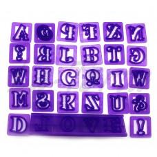 Набор резаков Английский алфавит с держателем