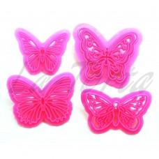 Набор резаков-штампов Бабочки 4шт