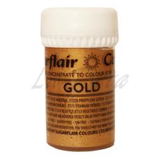 Перламутровый гелевый краситель Sugarflair Золото (Gold)