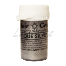 Перламутровый гелевый краситель Sugarflair Серебро (Antique silver)