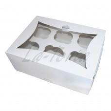 Коробка для капкейков 6шт Белая (5шт)