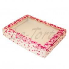 Коробка для пряников 15см*20см Розовые сердечки (5шт)