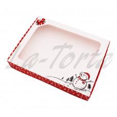 Коробка для пряников 15см*20см Снеговик (5шт)
