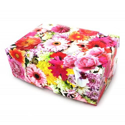 Коробка для капкейков на 6шт (цветы яркие, без окна)(5шт)